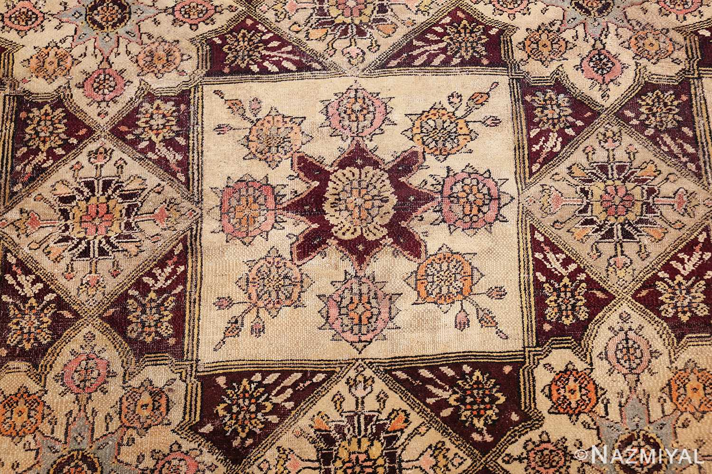 antique indian agra rug 3291 center Nazmiyal