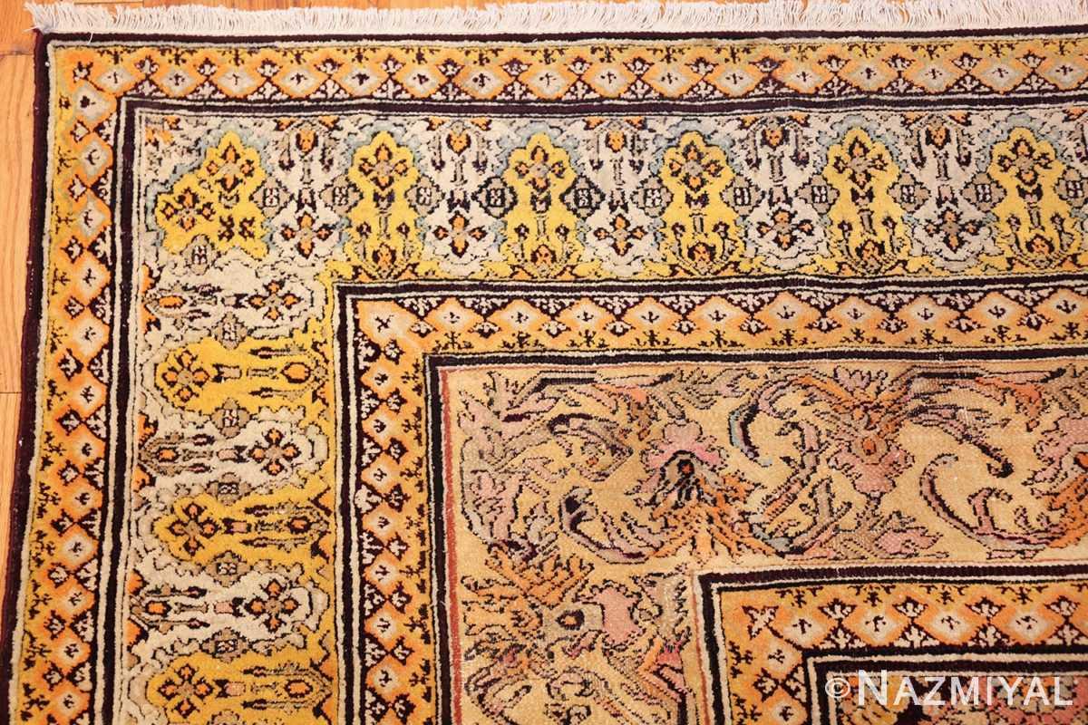 antique indian agra rug 3291 corner Nazmiyal