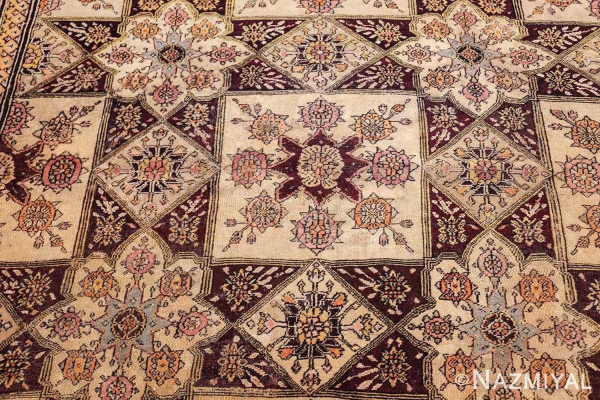 antique indian agra rug 3291 field Nazmiyal