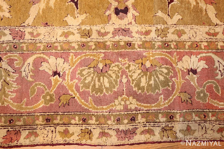 antique indian amritsar rug 1227 border Nazmiyal