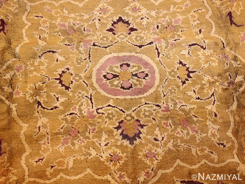 antique indian amritsar rug 1227 medallion Nazmiyal