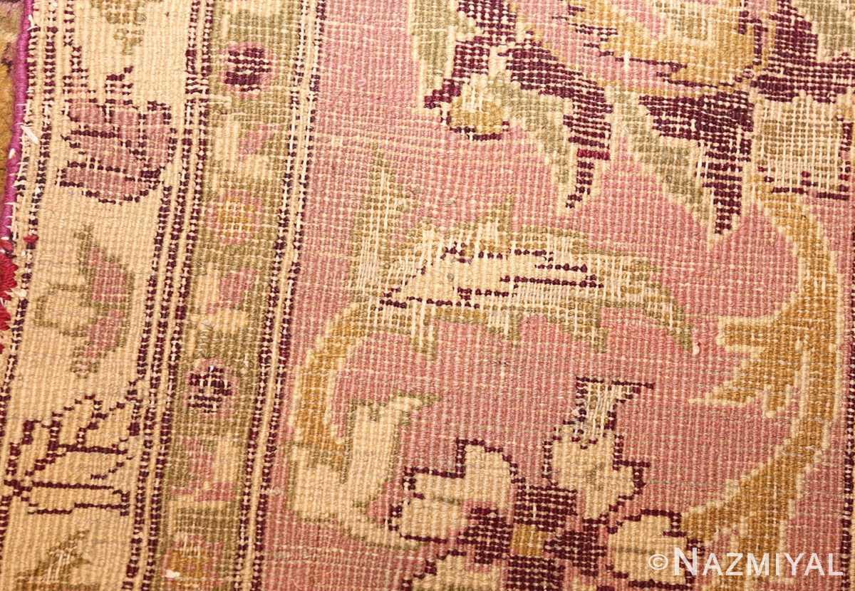 antique indian amritsar rug 1227 weave Nazmiyal