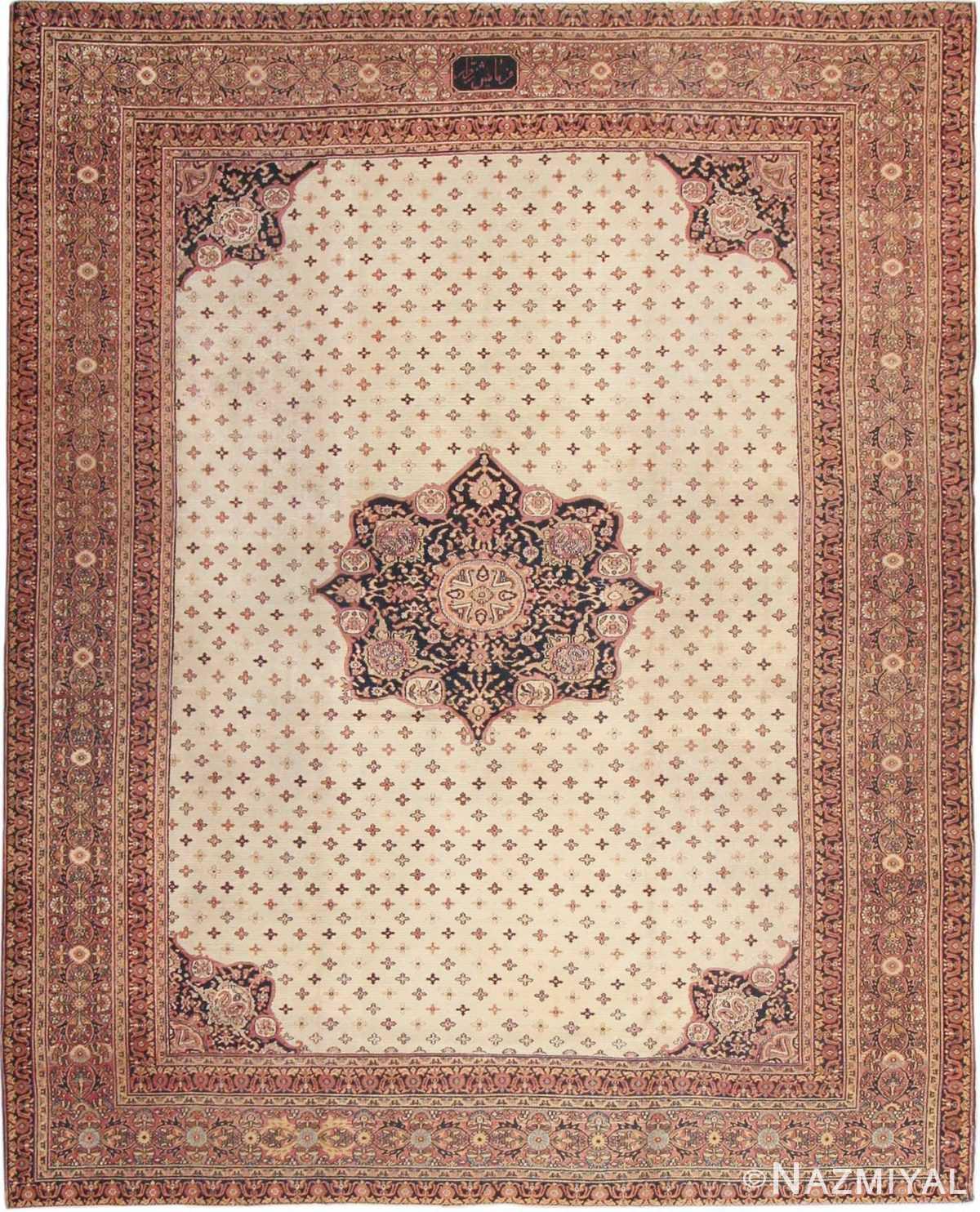 antique persian khorassan rug 854 Nazmiyal
