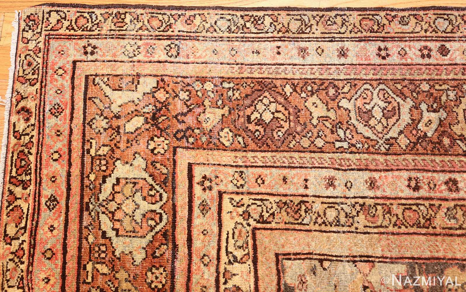antique persian sultanabad rug 43053 corner Nazmiyal