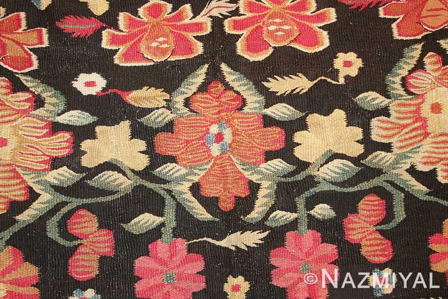Close Up 1 - Antique Romanian Bessarabian Rug 2121