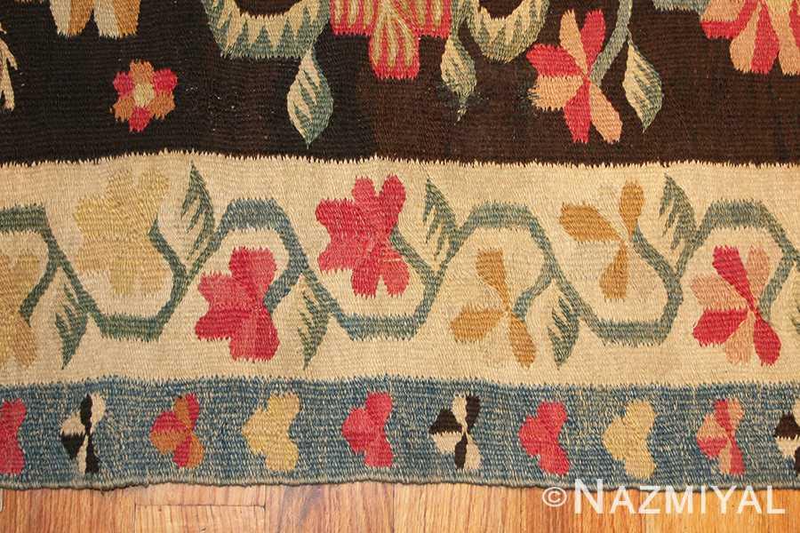 Close Up 3 - Antique Romanian Bessarabian Rug 2121