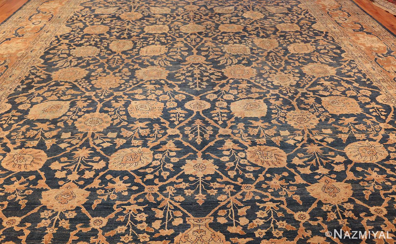 antique tabriz persian rug 43098 field Nazmiyal