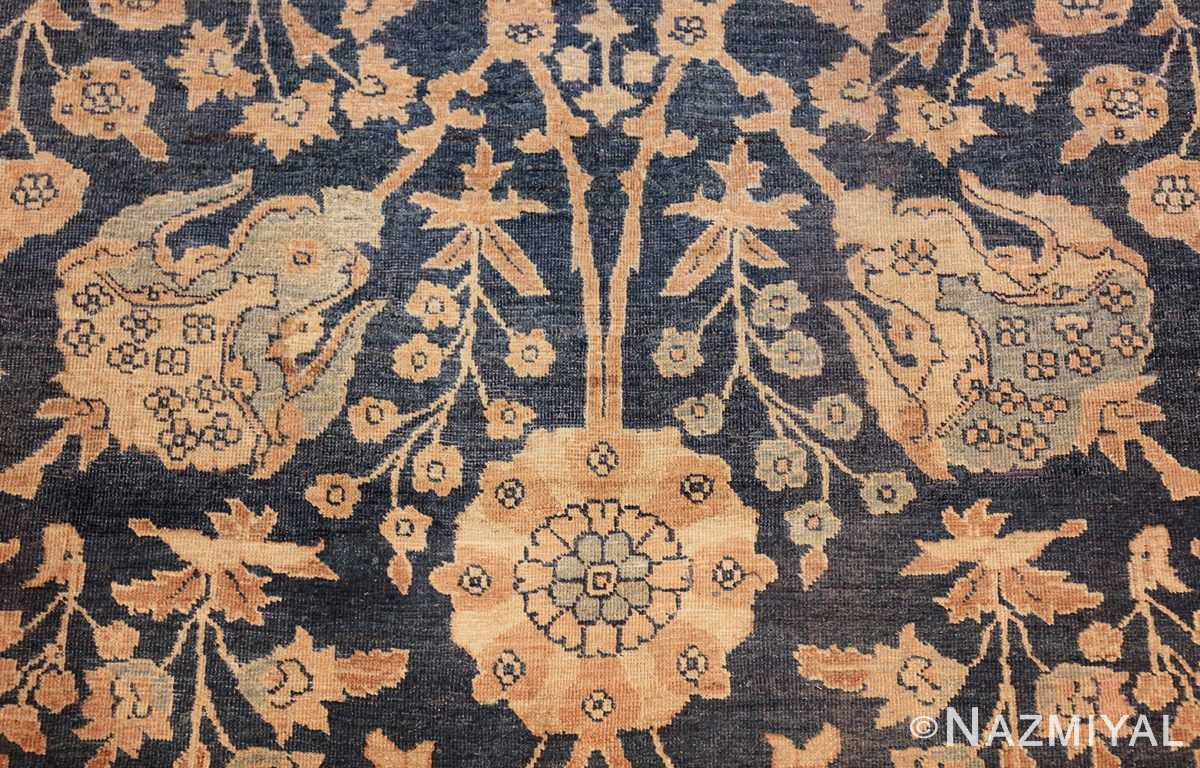 antique tabriz persian rug 43098 flower Nazmiyal