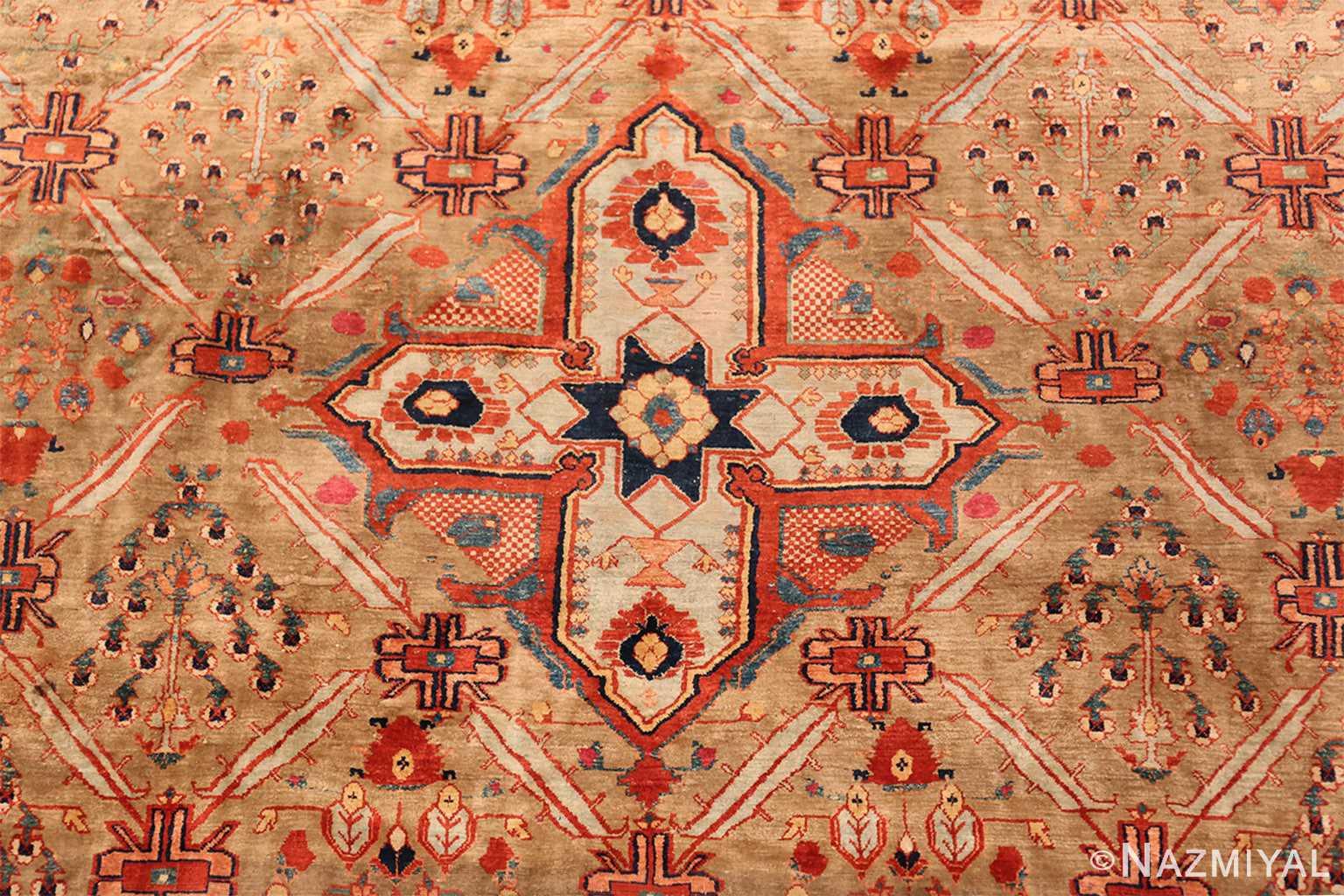 Antique Silk Heriz Serapi Persian Rug 40829 Nazmiyal
