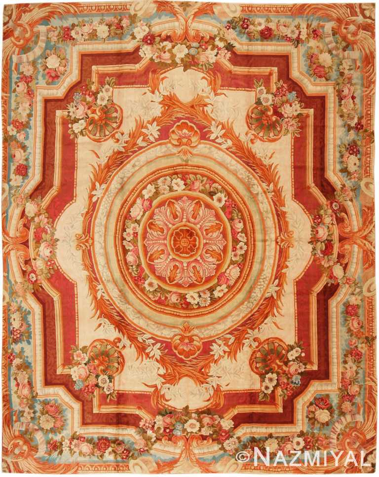 Large Antique English Axminster Rug #3437 by Nazmiyal Antique Rugs
