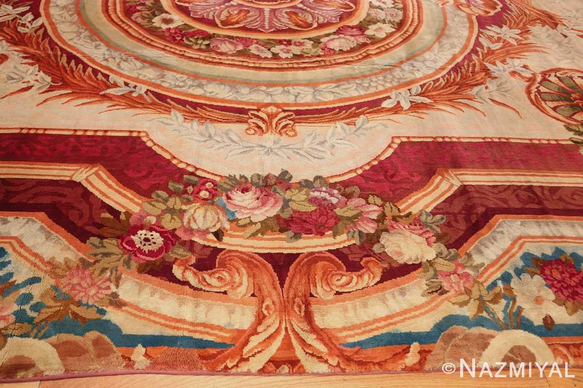 large antique english axminster rug 3437 border Nazmiyal