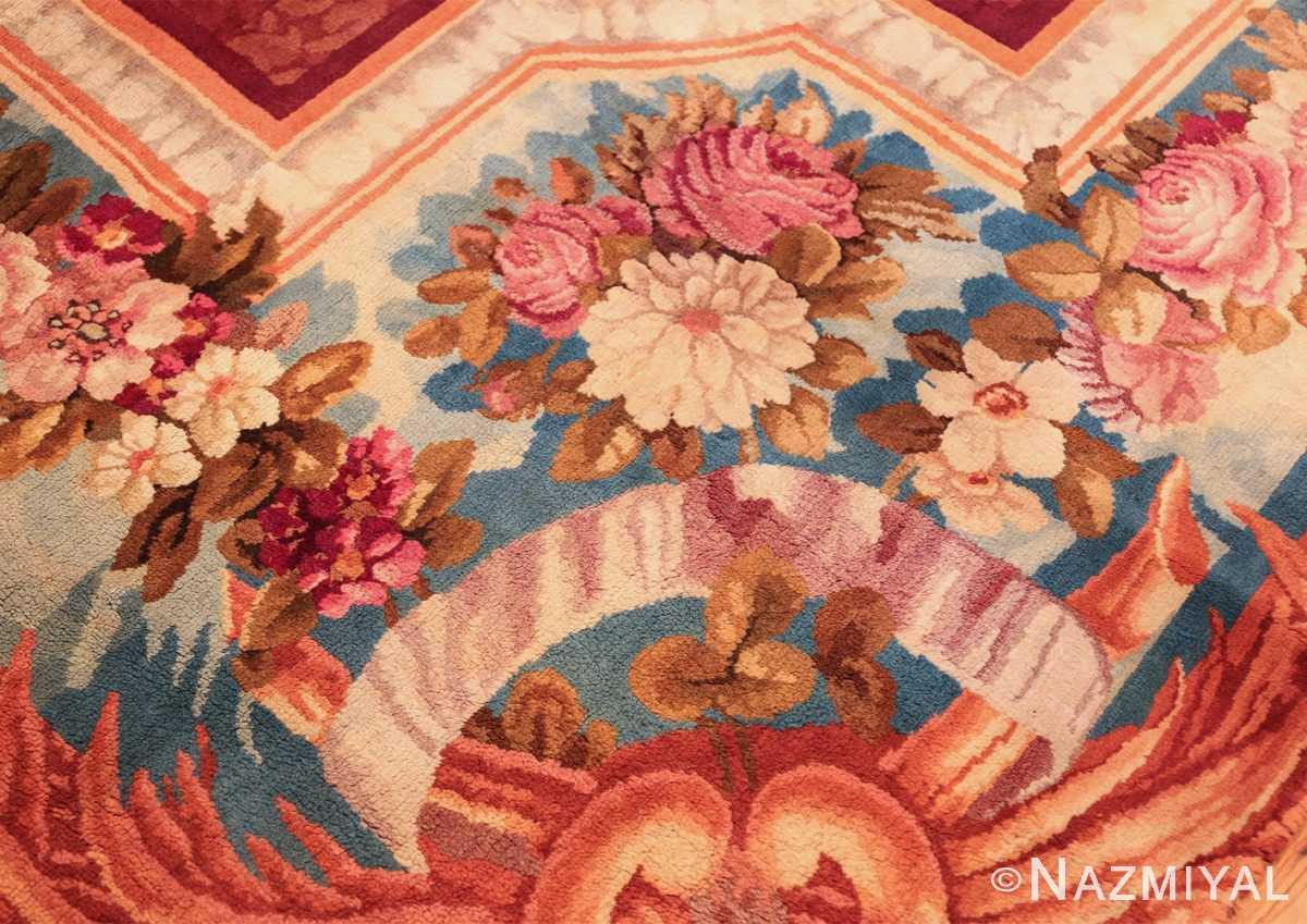 large antique english axminster rug 3437 flowers Nazmiyal