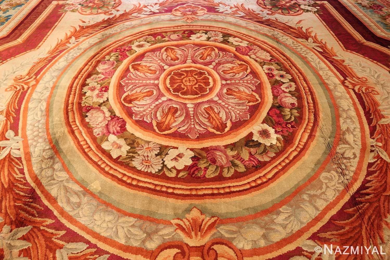 large antique english axminster rug 3437 medallion Nazmiyal