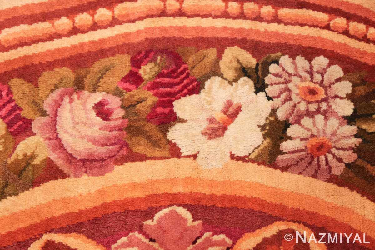 large antique english axminster rug 3437 roses Nazmiyal