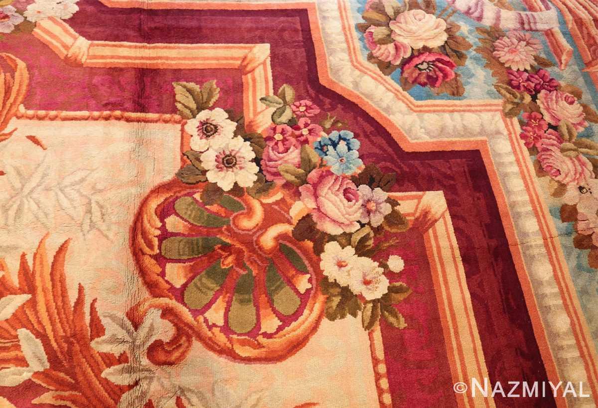 large antique english axminster rug 3437 vase Nazmiyal