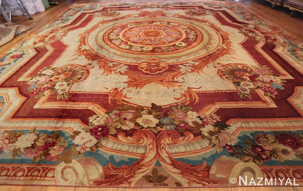Large Antique English Axminster Rug 3437 By Nazmiyal