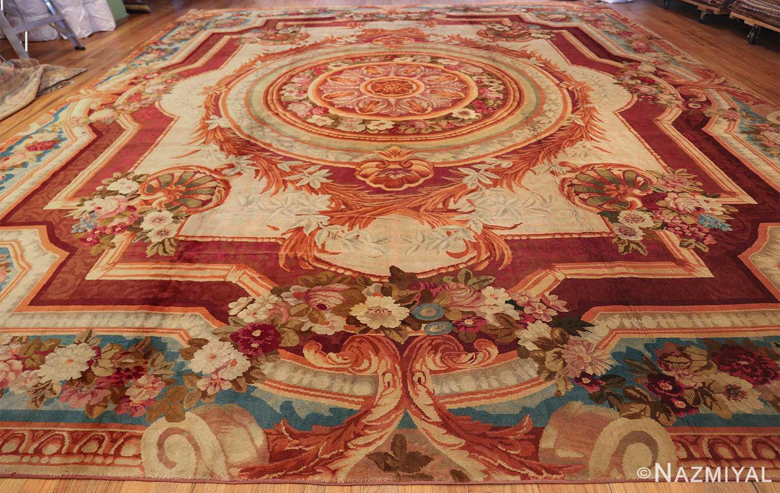 large antique english axminster rug 3437 whole Nazmiyal
