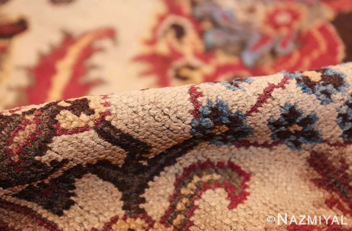 long and narrow ivory antique indian agra rug 3200 pile Nazmiyal