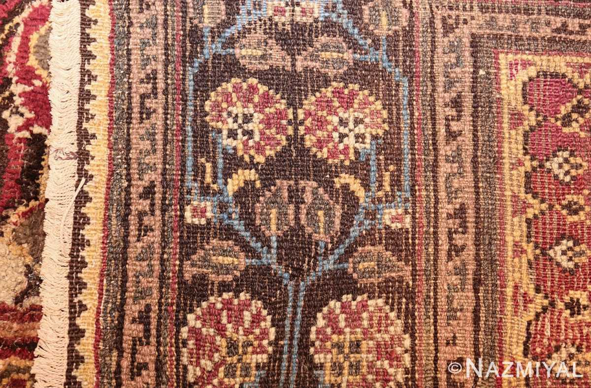 long and narrow ivory antique indian agra rug 3200 weave Nazmiyal