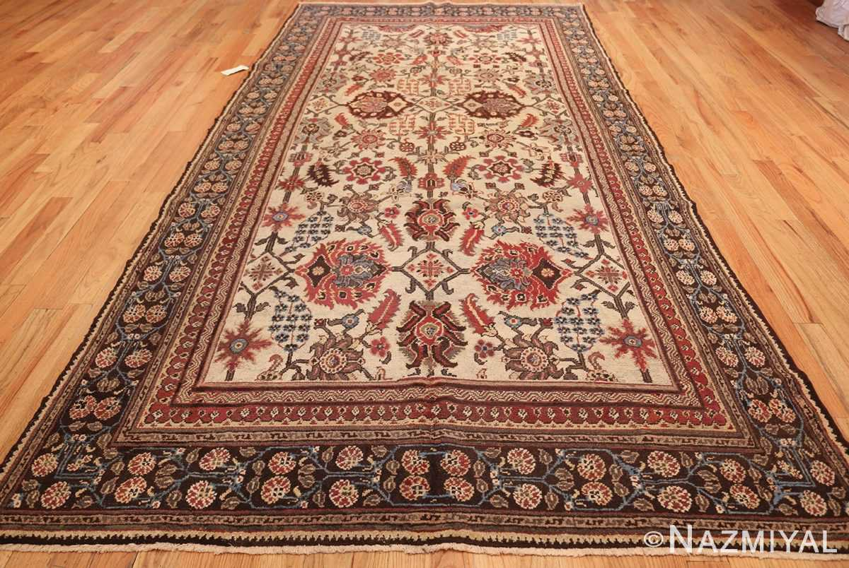 long and narrow ivory antique indian agra rug 3200 whole Nazmiyal