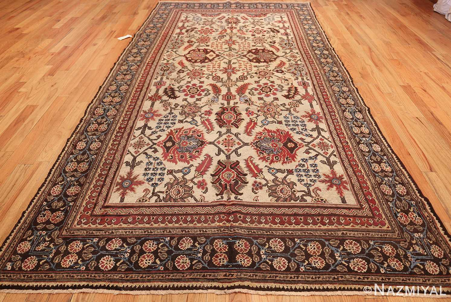 long and narrow ivory antique indian agra rug 3200 whole Nazmiyal
