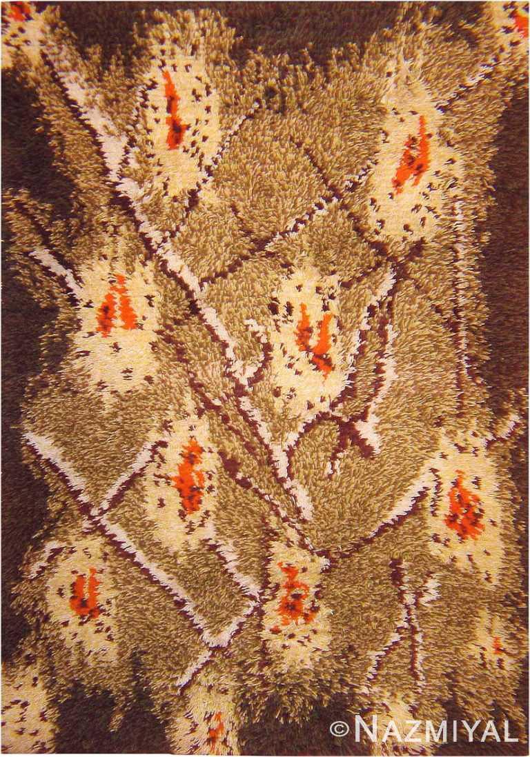 Vintage Shag Pile Swedish Rya Rug #42013 by Nazmiyal Antique Rugs