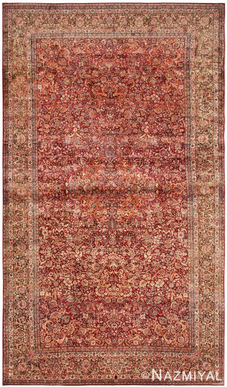 antique Kerman persian rug 43142 Nazmiyal