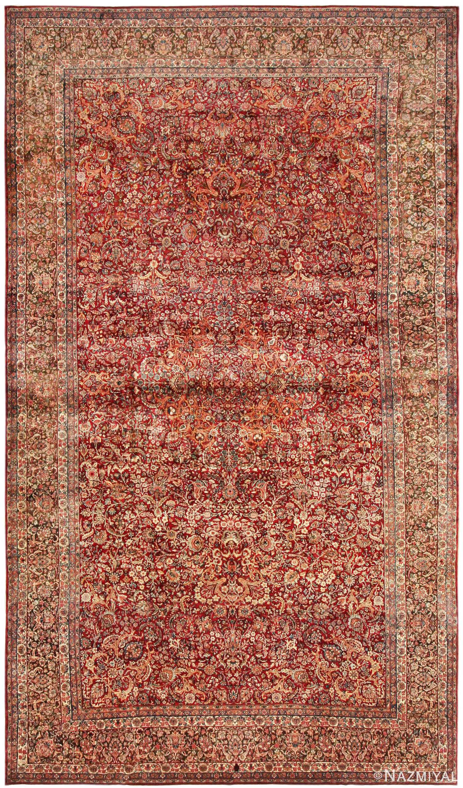 antique Kerman persian rug 43142 Nazmiyal