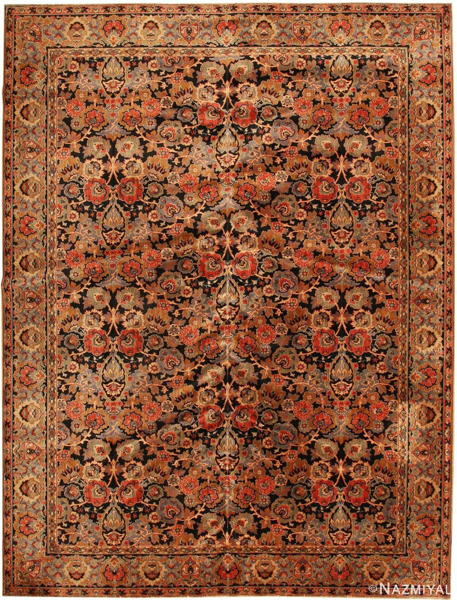 antique english axminster rug 2442 Nazmiyal