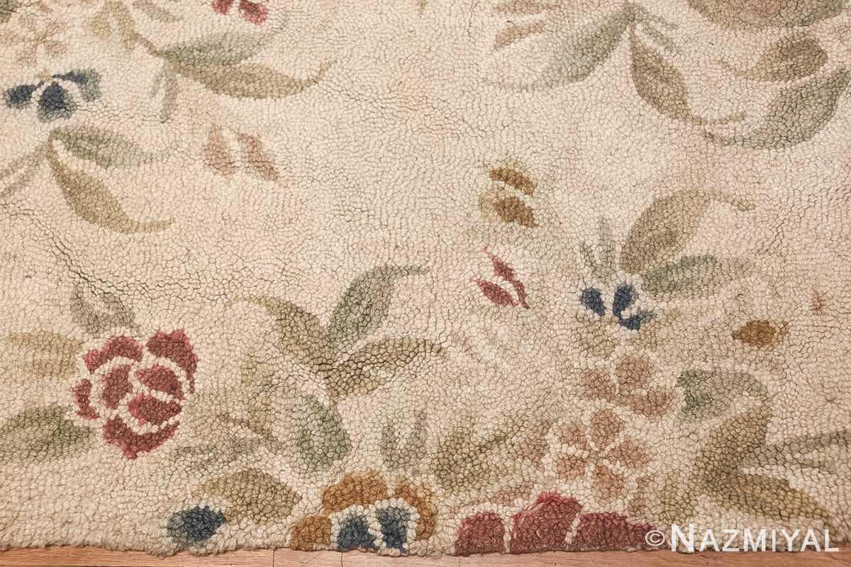 antique hooked american rug 2275 border Nazmiyal