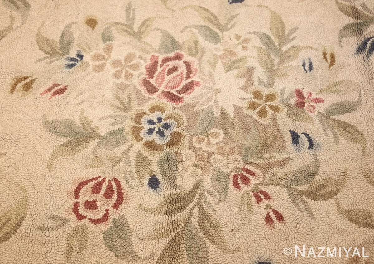 antique hooked american rug 2275 bouquet Nazmiyal