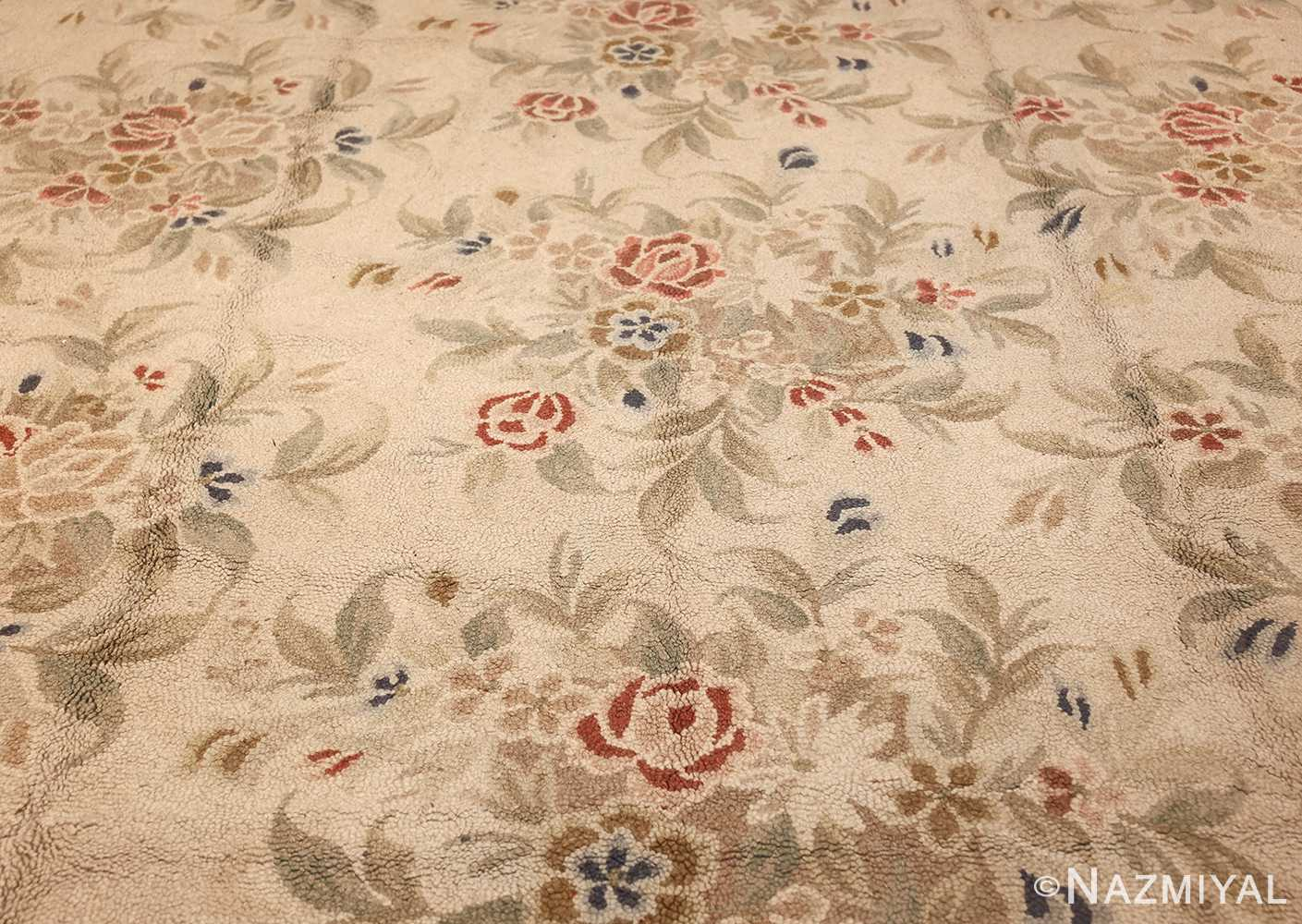 antique hooked american rug 2275 field Nazmiyal