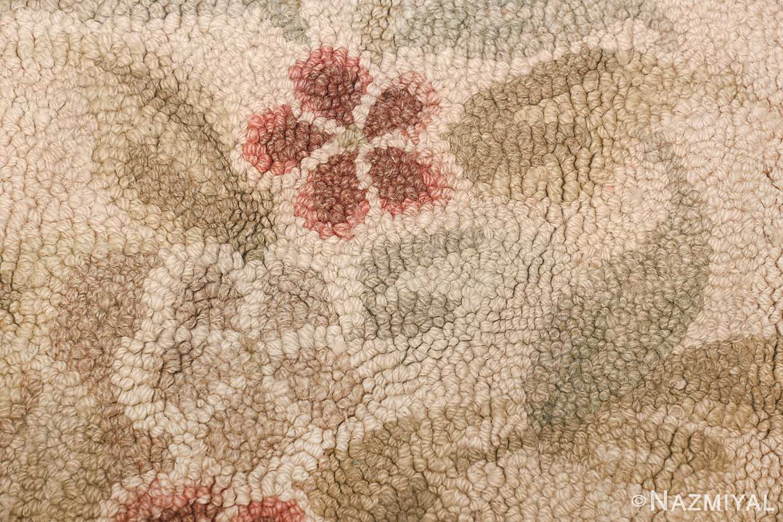 antique hooked american rug 2275 pink Nazmiyal