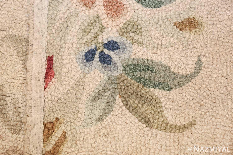 antique hooked american rug 2275 weave Nazmiyal