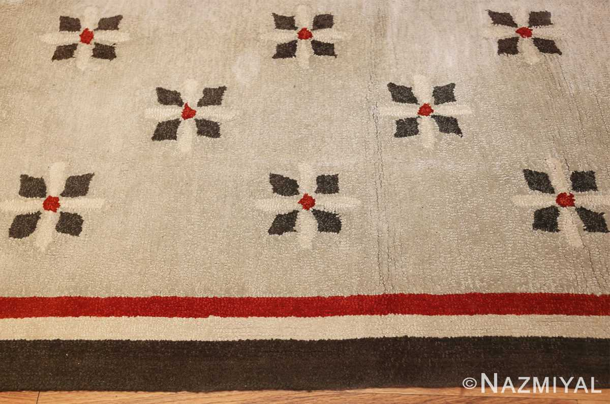 antique hooked american rug 2713 border Nazmiyal