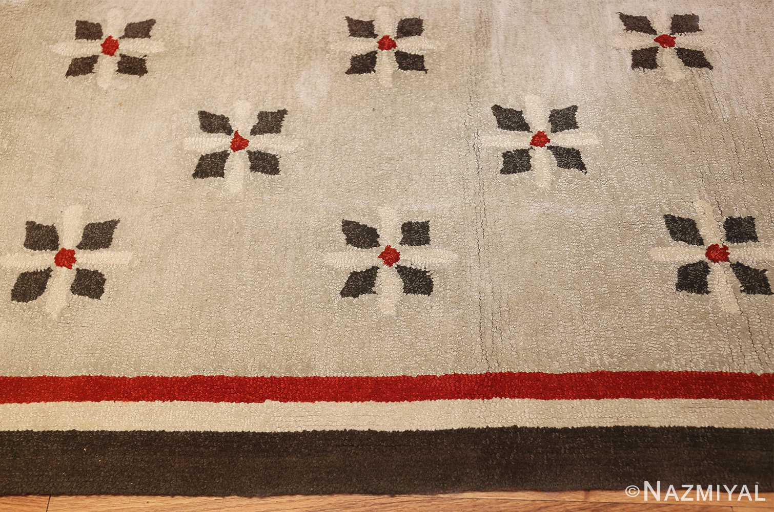 antique hooked american rug 2713 border Nazmiyal