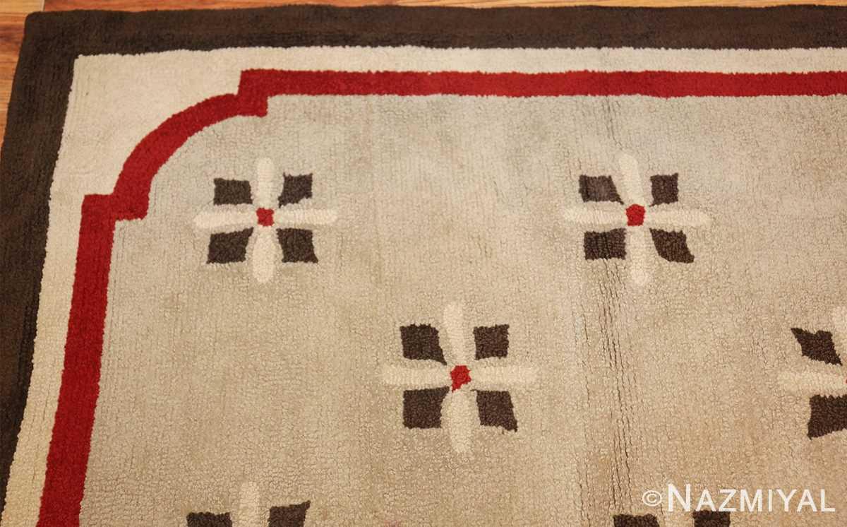 antique hooked american rug 2713 corner Nazmiyal