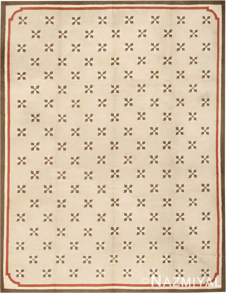 Antique Hooked American Rug #2713 by Nazmiyal Antique Rugs