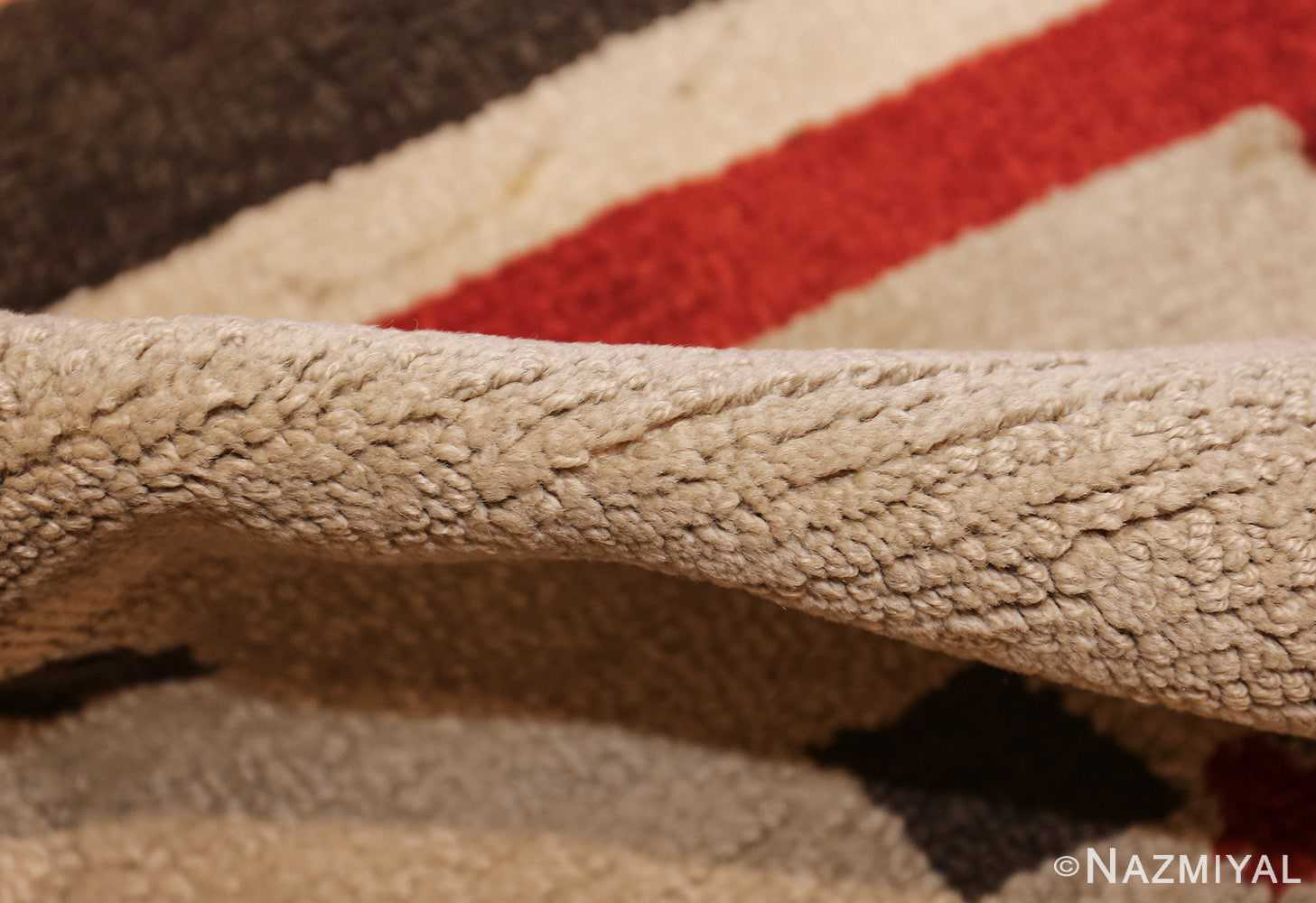 antique hooked american rug 2713 pile Nazmiyal