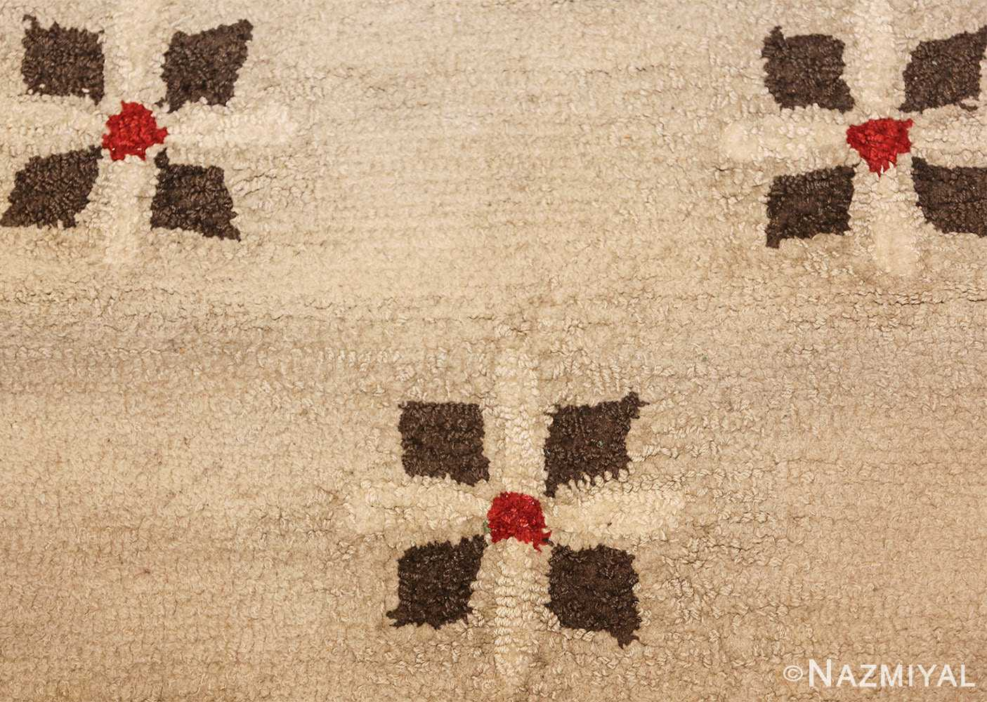 antique hooked american rug 2713 trio Nazmiyal