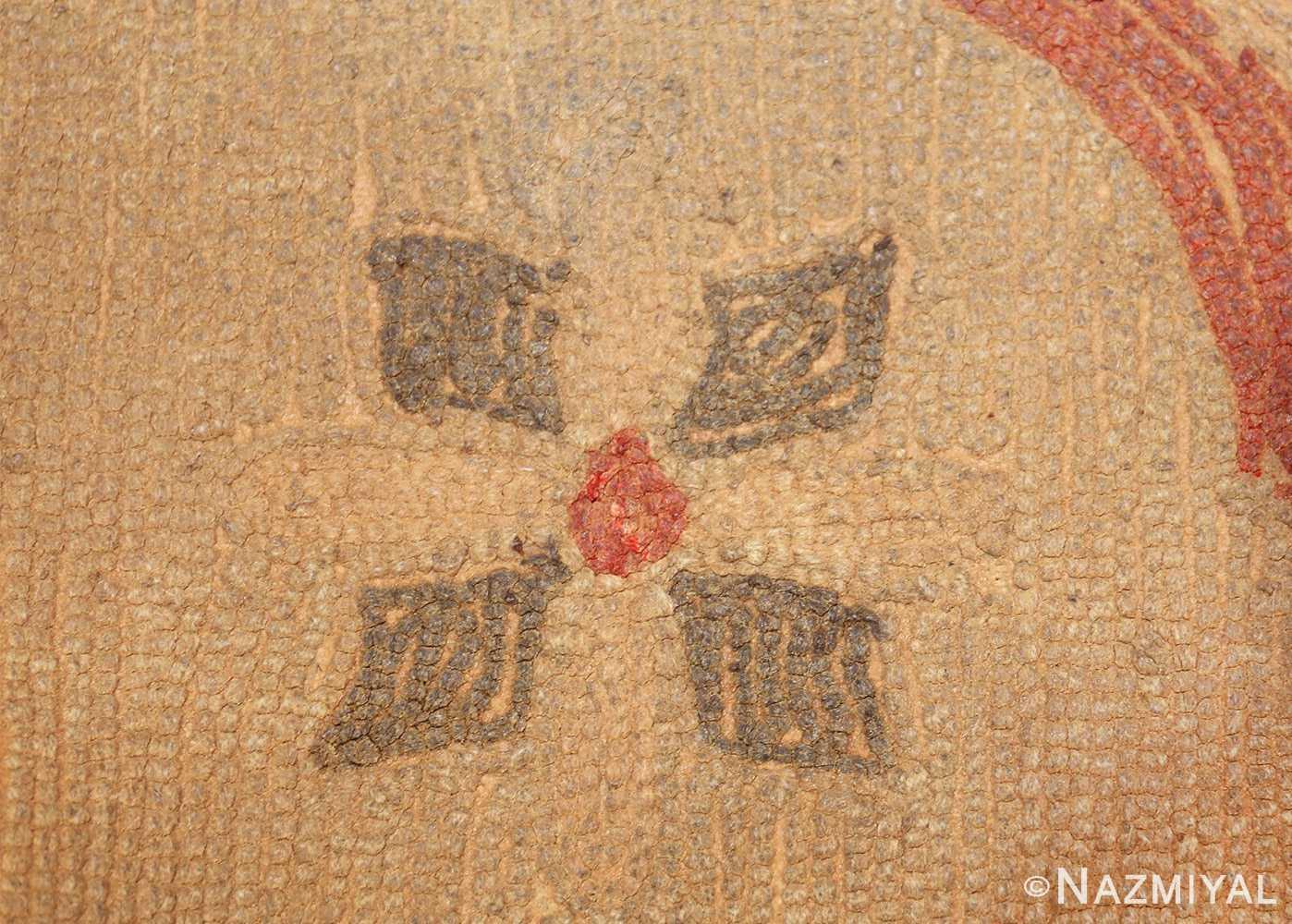 antique hooked american rug 2713 weave Nazmiyal