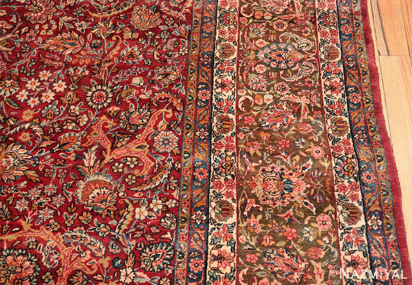 antique kerman persian rug 43142 border Nazmiyal