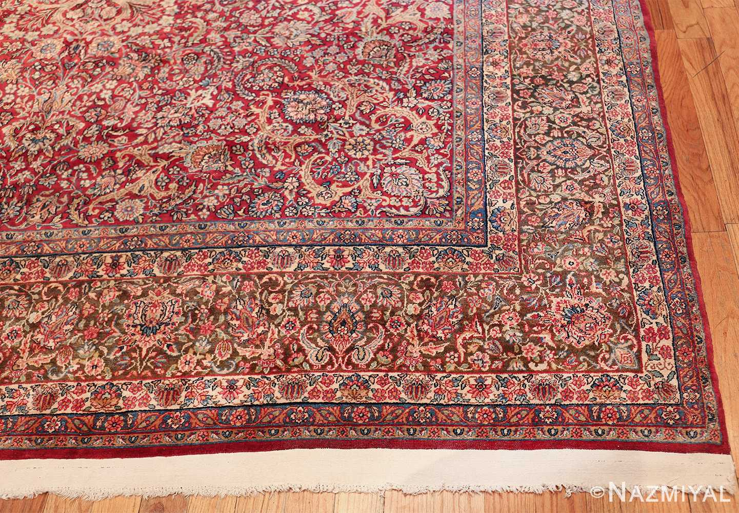 antique kerman persian rug 43142 corner Nazmiyal
