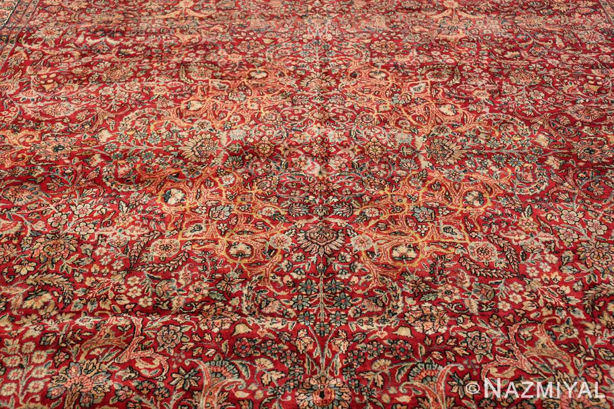 antique kerman persian rug 43142 medallion Nazmiyal