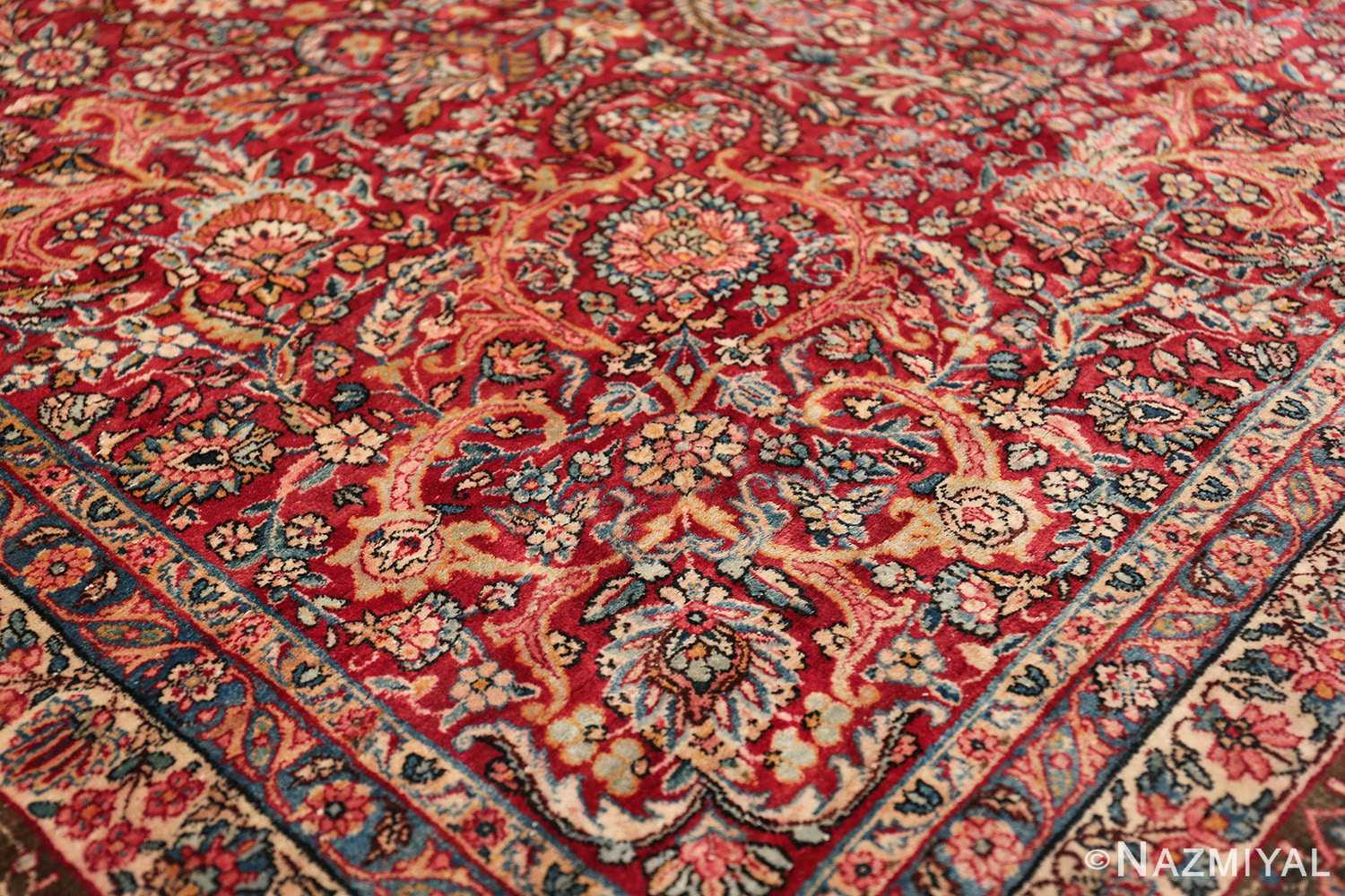 antique kerman persian rug 43142 part Nazmiyal