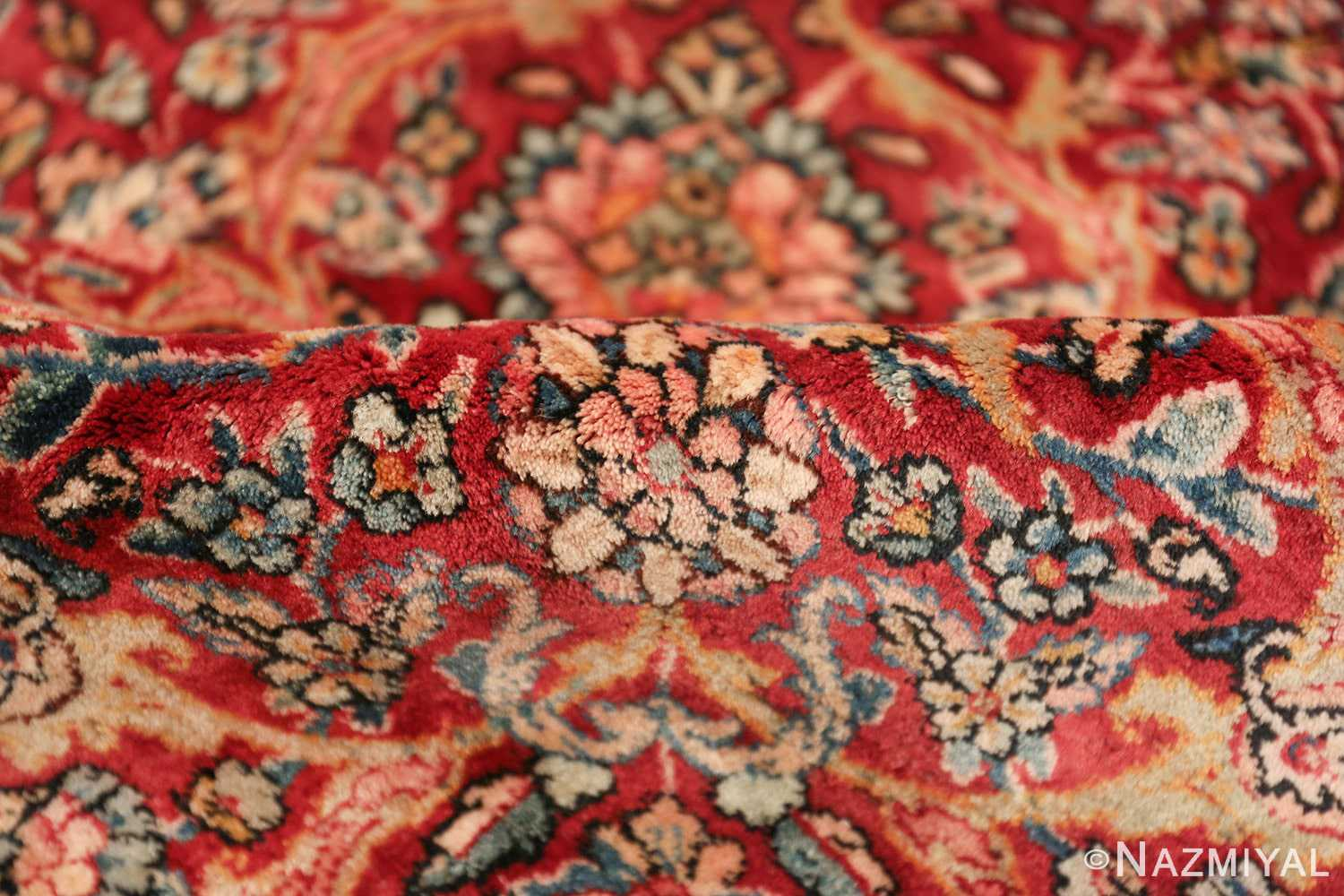 antique kerman persian rug 43142 pile Nazmiyal