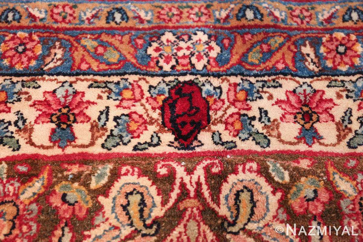 antique kerman persian rug 43142 signature Nazmiyal