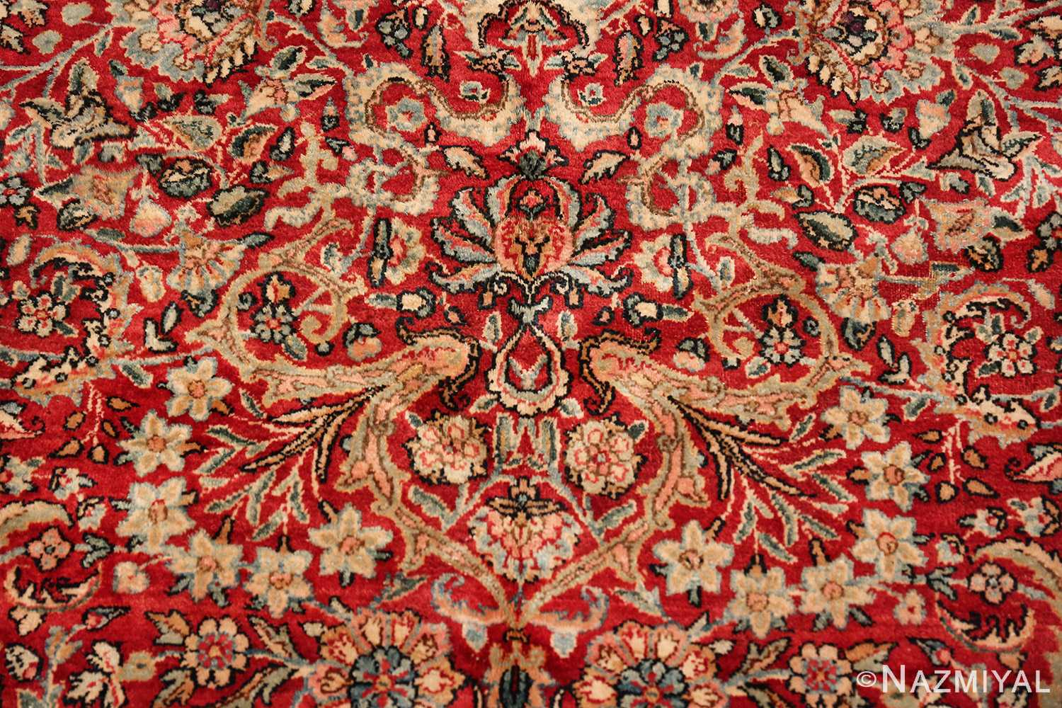 antique kerman persian rug 43142 tiara Nazmiyal