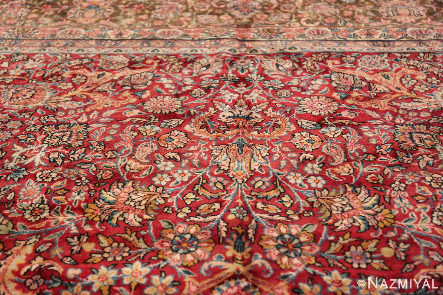 antique kerman persian rug 43142 top Nazmiyal