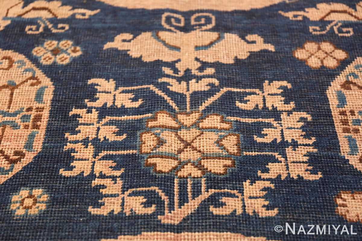 Antique Khotan Oriental Rug 43179 Butterfly Flower Nazmiyal